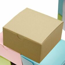 """Natural 100 pcs Cake FAVOR BOXES 4""""x4""""x2"""" Wedding Party Decorations GIFT Supply"""