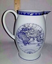 Mottahedeh Navigational Earth Pitcher Large Milk Jug Vista Alegre 1824 Portugal