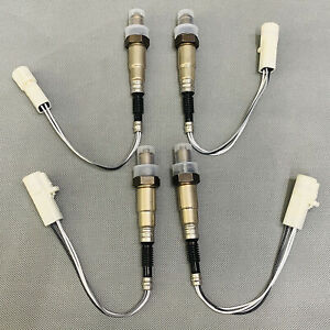 Up & Down Lambda Oxygen Sensor O2 15664 4PCS For Ford Explorer Mercury Lincoln