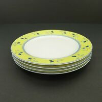 "Royal Doulton Blueberry Pattern 7½"" Salad Plates 2005 Set Of 4"