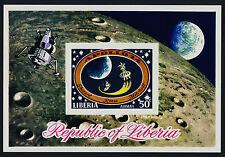 Liberia C186 imperf MNH Space, Apollo 14 Moon Landing