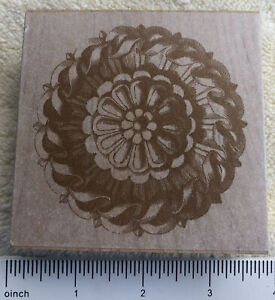 French Rosette Architectural Medallion Rubber Stamp All Night Media Anna Griffin