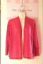 WORTHINGTON ~ Hot Pink Fishnet Knit Open Summer Sweater / Jacket Sz PXL * EXLNT