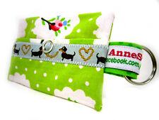 Kackbeutel Hundetüten Tasche Hundekotbeutel Spender Waste Bag grün chien shabby