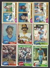 1981 Topps Baseball Superstar Lot + Leaders 9 Cards NM-MT