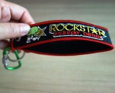 ROCKSTAR Keychain Embroidered Fabric Keyring Strap Holder Bike New Free Shipping