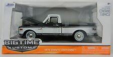 1:24 JADA TOYS *BIG TIME KUSTOMS* BLACK 1972 C-10 Cheyenne Pickup Truck *NIB*