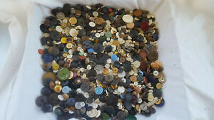 Vtg Antique Collectible Unique Button Sewing Lot Mother Of Pearl Plastic Wood