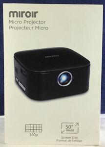 "Miroir M75 DLP Mini Projector 1080P Quality HDMI 50"" Max Image Size"