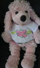"Build A Bear Pink Poodle Dog 20"" PRINCESS IN TRAINING SHIRT TOP BABW PUPPY PUP"