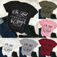 Women T-shirt Fashion Christian Casual Tops Plus Size funny Tee Letter printing