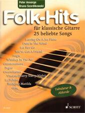 Folk-Hits für klassische Gitarre Songs im Fingerpicking Stil Noten und Tab