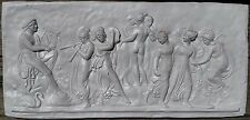 Greek Mythology Apollo & Muses Classic Plaster Cast Wall Art Plaque Bas Relief