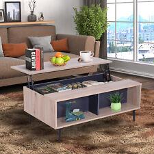 Couchtisch Beistelltisch Wohnzimmer Tischplatte höhenverstellbar großer Stauraum