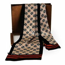 "Mens 100% Silk Long Scarf/Cravat Scarives Double Layer  63""X12"""