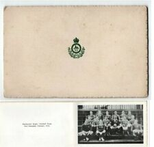 SOUTH WALES BORDERERS FOOTBALL TEAM SHANGHAI CHINA MILITARY CHRISTMAS CARD 1914