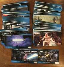 1994 TOPPS STAR WARS WIDE VISION TRADING CARD SET COMPLETE 120 CARDS + Inserts!