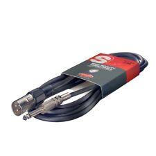 Stagg SAC3PXM DL Câble d'instrument Deluxe XLR mâle à Jack 3m Noir