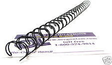 """Wire-O Binding Spines 3/8"""" diameter 3:1 pitch Twin Loop Double-O ( 100 pc) BLACK"""
