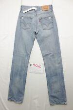 Levi's 511 (Cod. F902) Tg46 W32 L34 slim con rotture jeans usato.