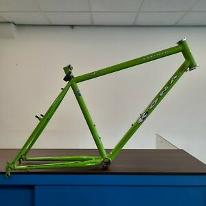 "🐸1991 Kona EXPLOSIF Steel 17"" MTB Frame GREEN | Joe Murray Design | VINTAGE 💚"