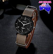 Wholesale Hot Brown Leather Classic Mens Black Dial Quartz Sports Wrist Watch