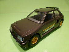 BBURAGO PEUGEOT 205 TURBO 16 - DARK GREY 1:25 - VERY GOOD CONDITION