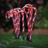 Lytworx 30cm LED Candy Cane Solar Stake Lights 10 pack outdoor christmas xmas