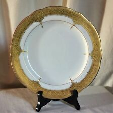"Hammersley & Co,English encrusted dinner plate,1920's sold by H R Macy,NY. 10"" d"