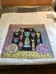 foulard versace seta 85x85 carré, multicolor