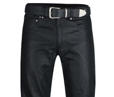 mens leather jeans PERFORED leather pants new trousers  Lederjeans schwarz