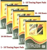 "Premium Tracing Paper Pad 30 Sheet 9"" x 12"" Quality Sketches Book Preliminary"