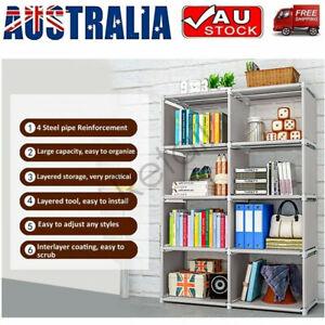 8 Cube Bookcase Cabinet Storage Shelf Rack Organizer Bookshelf Book Display Unit