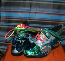 NEW Hand made Dragon shoes. LED,holographic.Unique,punk,emo,wedding,glam,cyber.