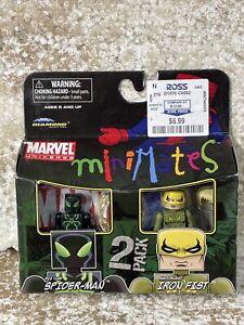 2011 Minimates MARVEL 2 figure set BIG TIME SPIDERMAN & SHADOWLAND IRON FIST