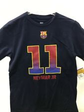 FIFA FC Barcelona Neymar Jr. #11 Youth Navy Name & Number T-Shirt, Large