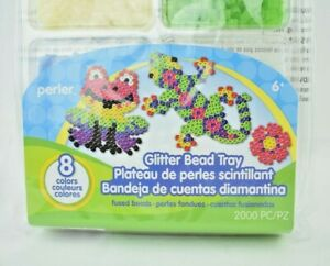 Perler - Glitter Bead Tray - 2000 Pieces (8 Colors) - Fused Bead Kit (New)