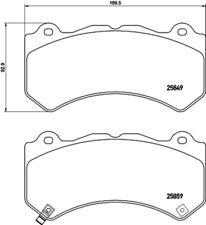BREMBO Bremsbelagsatz Scheibenbremse P 37 018 für NISSAN DODGE JEEP CHEROKEE GT