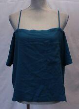 Olivia Grey Women's Off-the-Shoulder Crop Top Shirt TM8 Blue Medium NWT