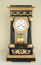 Early 19th century Gilt Bronze French Empire Portico Mantel Clock