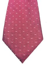 STAFFORD MENS TIE BURGUNDY WITH WHITE AND BLACK ACCENTS 4 X 66 NWOT