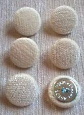 Chenille Velvet 36L//23mm Noir Upholstery Fabric Covered Loop Back Buttons Black