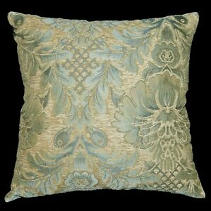 We60 - Light Blue Peony Flower Leaf Bolster Case/Pillow/Sofa Seat Cushion Cover