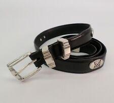 Concho Golf Belt 40 42 Top Grain Oil Tan Leather Club Iron Black 2332500
