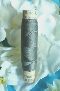 "1336B / Superb Coil Wire Silk Gutermann Laska "" Grey Green "" N° 250"