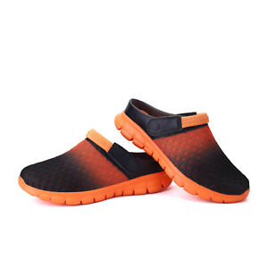 Men's Slip On Garden Mules Clogs Shoes Sports Sandals Beach Water Slippers Shoes