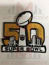 National Football League NFL Super Bowl 50 Golden Logo Iron-on Jersey PATCH!
