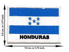 Honduras Flag Nation Football Sport Size L Logo Applique Iron on Patch