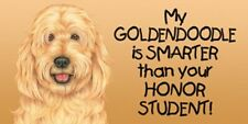 My Goldendoodle is Smarter than your Honor Student! Car Fridge Dog Magnet 4x8