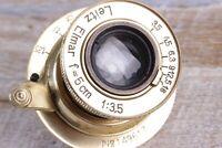Leitz Elmar lens 3.5/50 mm RF M39 LEICA Zeiss Eleitz Wetzlar gold